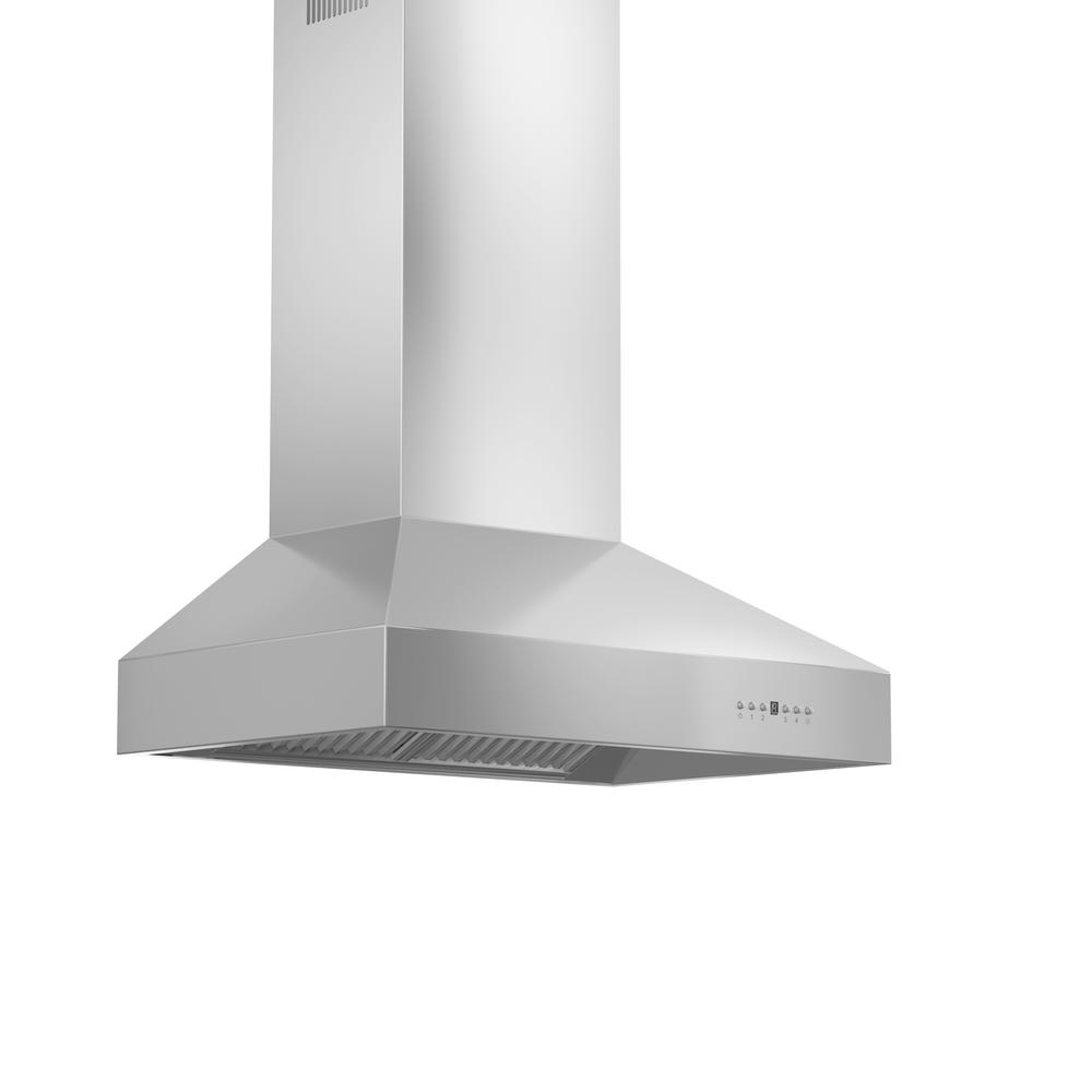 ZLINE Kitchen and Bath Zline 30 in. 900 CFM Outdoor Wall Mount Range Hood in Stainless Steel (Silver) ZLINE 30 in. OUTDOOR Traditional Professional High Performance 304 NON CORROSIVE stainless steel WALL Range Hood. Quiet and efficient with everything included to install and be up and running in minimal amount of time. Built for years of trouble free use - Efficiently and quietly moves large volumes of air and fits ceilings up to 12 ft. with the purchase of the proper ZLINE extensions.