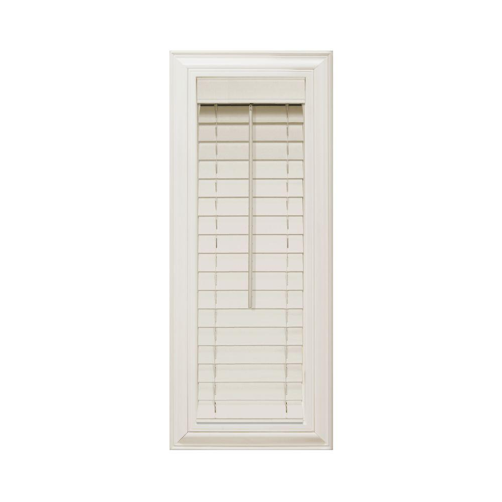 Home Decorators Collection Alabaster 2 in. Faux Wood Blind - 11.5 in. W x 48 in. L (Actual Size 11 in. W x 48 in. L )