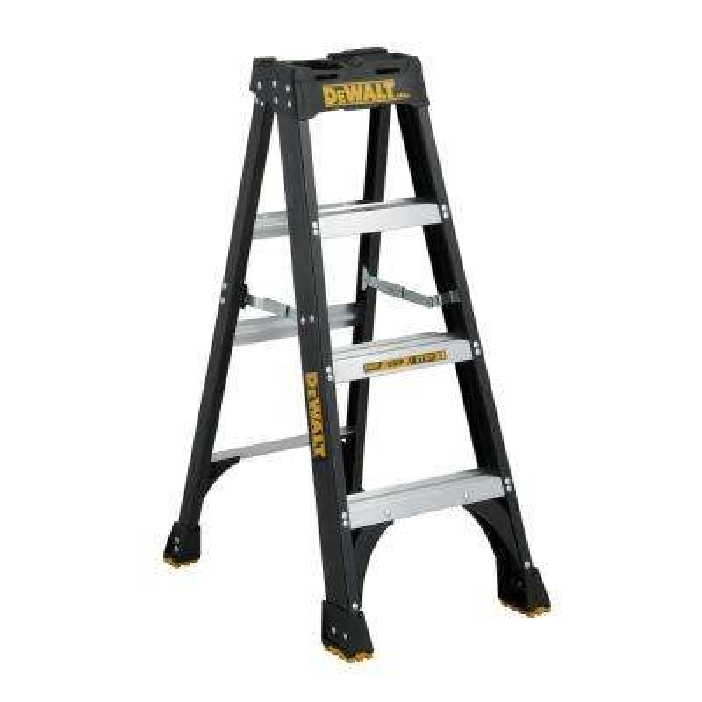 4 ft. Fiberglass Step Ladder(8.5 ft. Reach), 300 lbs. Load Capacity Type IA