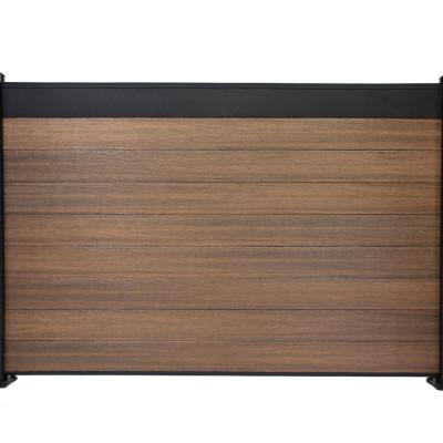 Euro Style Estate 4 ft. x 6 ft. King Cedar Aluminum and Composite Horizontal Fence Panel Section