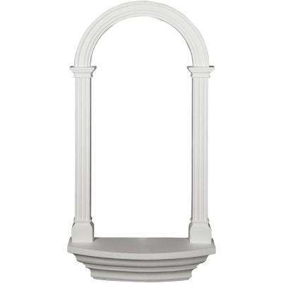 5-7/8 in. x 25-3/4 in. x 50-1/2 in. Primed Polyurethane Carrillo Wall Niche Moulding