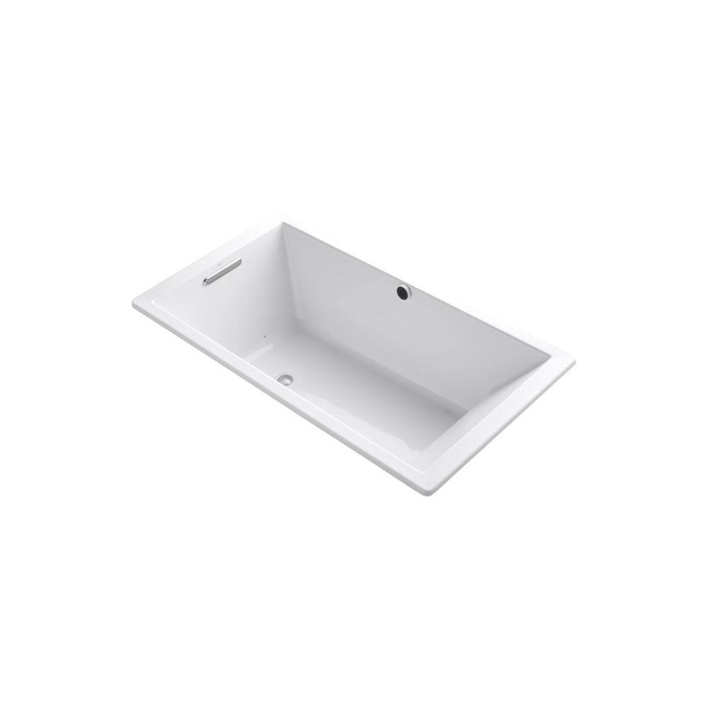Underscore 5.5 ft. Acrylic Rectangular Drop-in BubbleMassage Air Bath Bathtub in