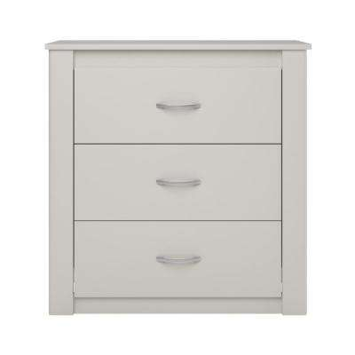 Kenya White 3-Drawer Dresser