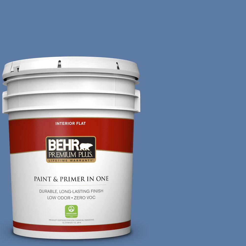 5 gal. #600D-6 Blueberry Patch Zero VOC Flat Interior Paint