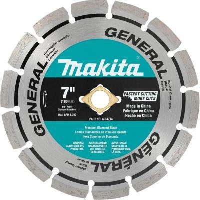 7 in. Segmented Rim General Purpose Diamond Blade (Wet and Dry Cutting)