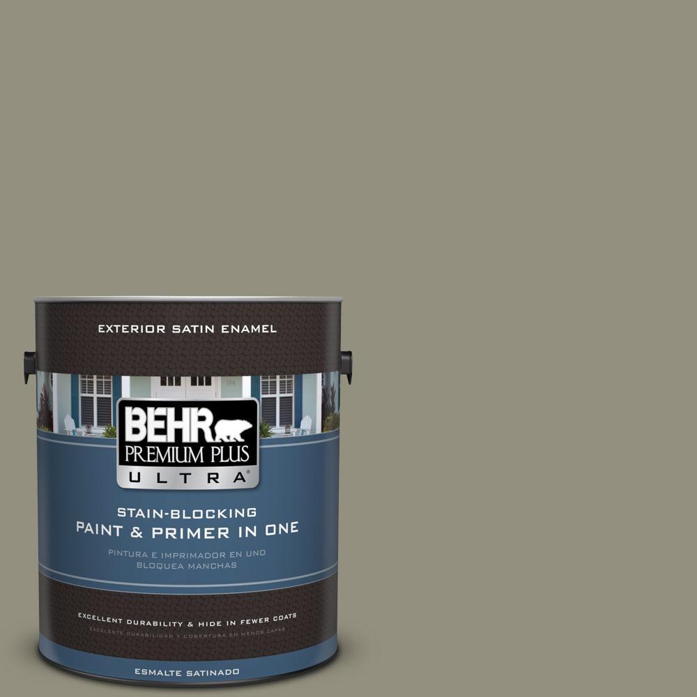 BEHR Premium Plus Ultra 1-gal. #N350-5 Muted Sage Satin Enamel Exterior Paint