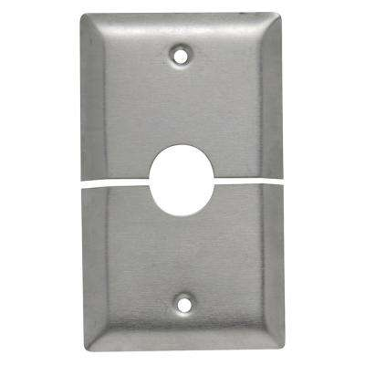 302 Series 1-Gang Horizontal Split Coaxial Wall Plate in Stainless Steel