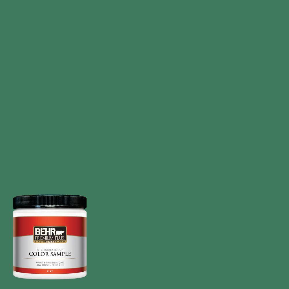 8 oz. #470D-6 Greenbelt Flat Interior/Exterior Paint and Primer in One