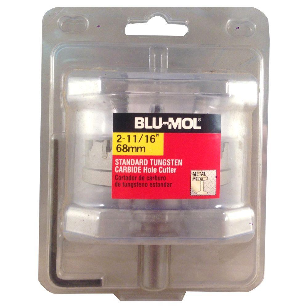 BLU-MOL 2-11/16 inch Standard Tungsten Carbide Hole Cutter by BLU-MOL