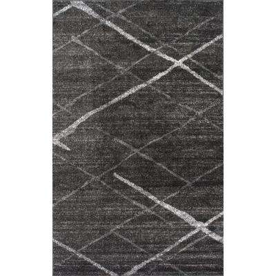 Thigpen Dark Grey 5 ft. x 8 ft. Area Rug