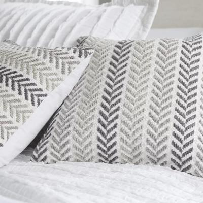 Altair Gray Geometric Hypoallergenic Polyester 18 in. x 18 in. Throw Pillow