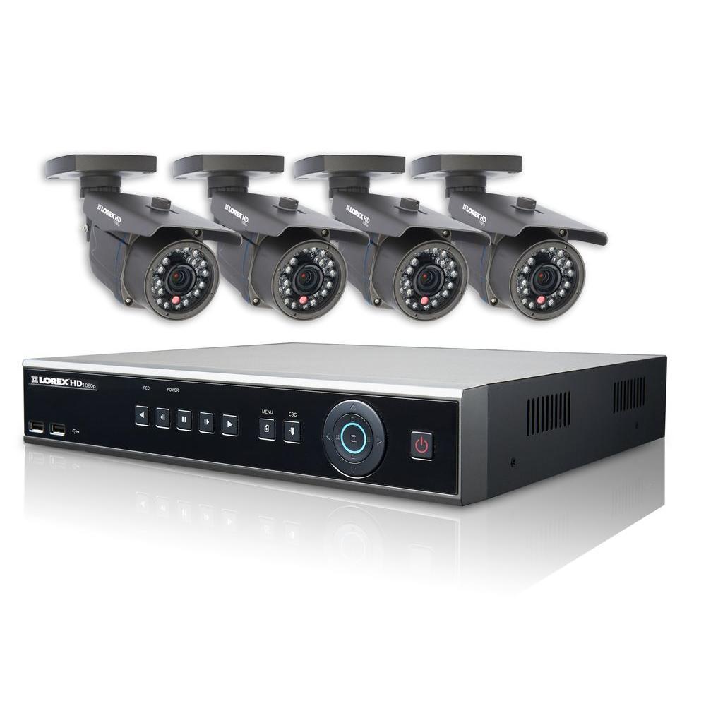 Lorex VANTAGE HD-SDI 4TB Hard Drive Surveillance System with 4 Full HD 1080p Security Cameras-DISCONTINUED