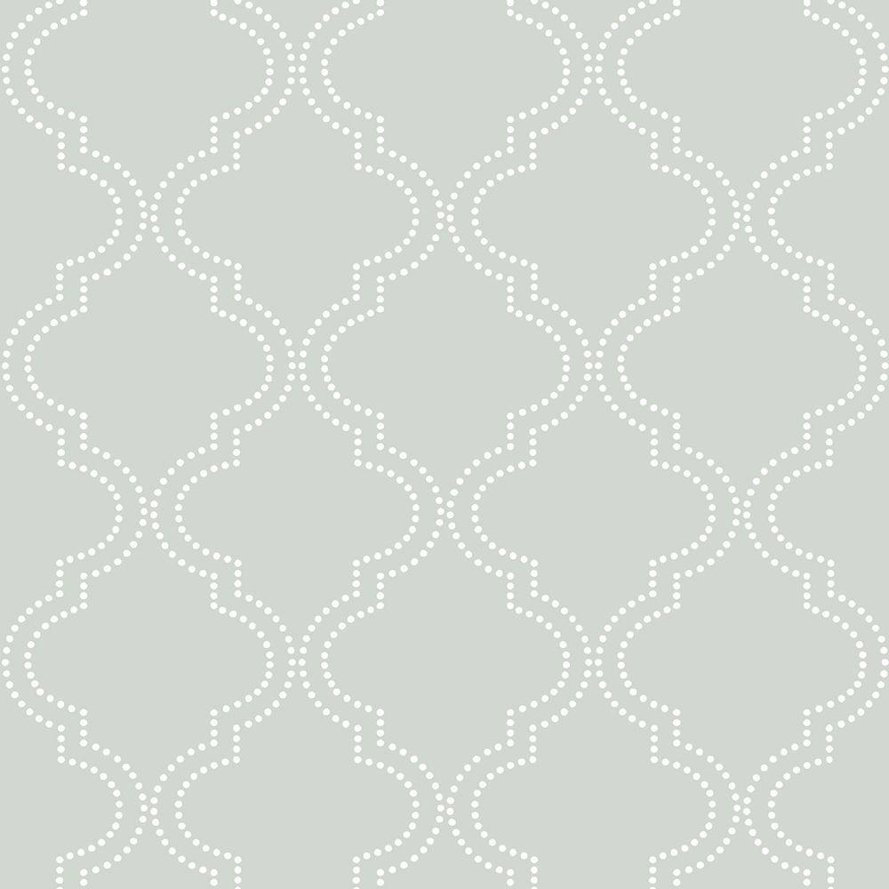 Grey Quatrefoil Peel and Stick Wallpaper Sample