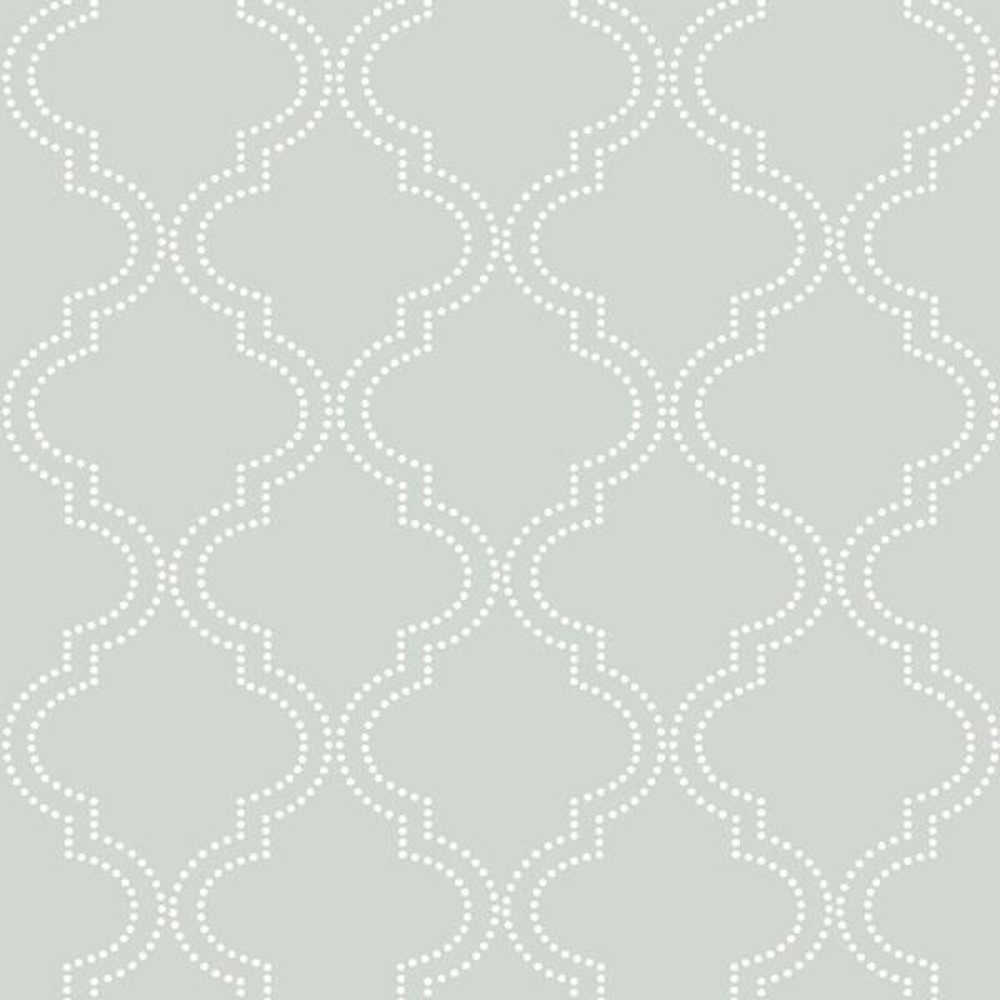 30.75 sq. ft. Grey Quatrefoil Peel and Stick Wallpaper