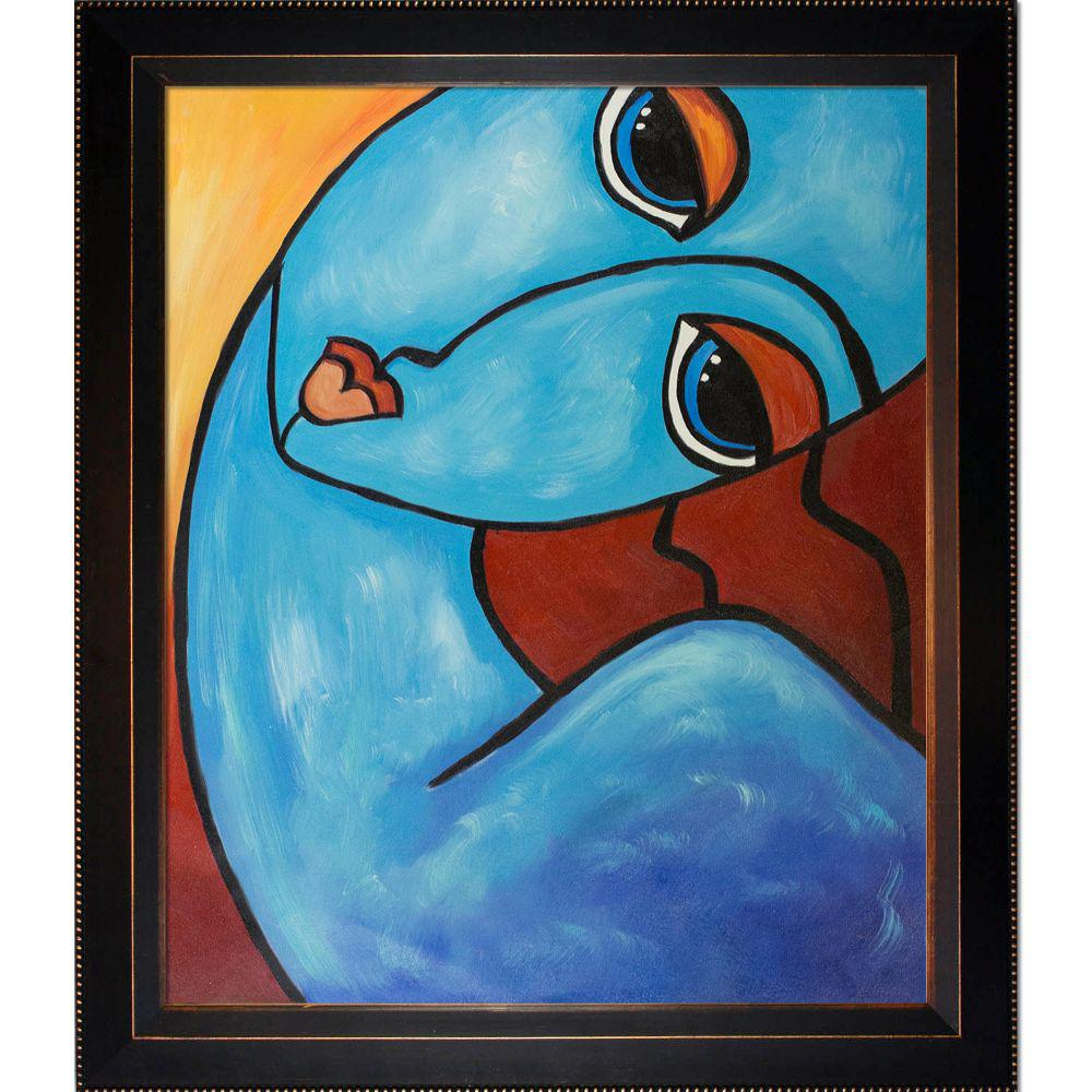 ArtistBe Picasso by Nora, Feeling Blue with Veine D'Or Bronze Angled Frameby Nora Shepley Canvas Print, Multi-color was $742.0 now $362.06 (51.0% off)