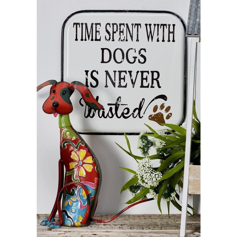 Cat and Dog-Inspired Quotes Iron Decorative Sign (Set of 2)