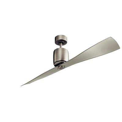 Ferron 60 in. Indoor Brushed Nickel Downrod Mount Ceiling Fan with Remote Control