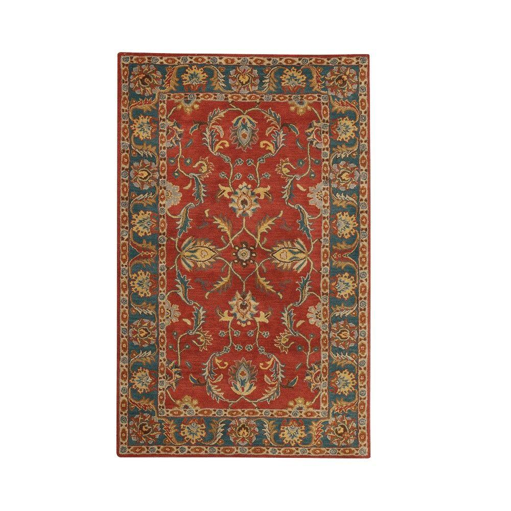 Home Decorators Collection Aristocrat Rust Red 6 Ft. X 9