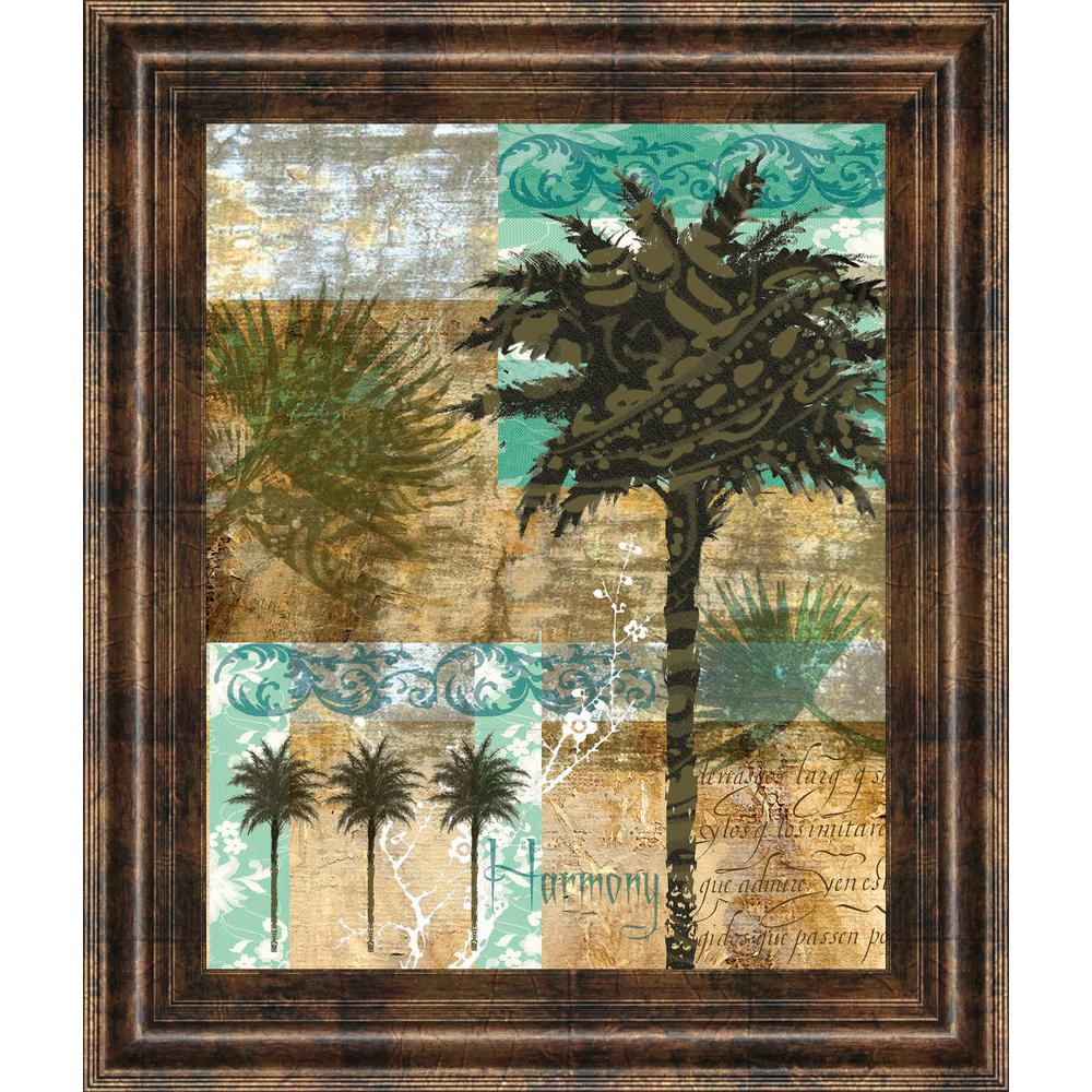 22 in. x 26 in. ''Palm III'' by Maeve Fitzsimons Framed