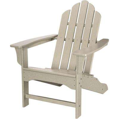 Sand All-Weather Plastic Outdoor Adirondack Chair