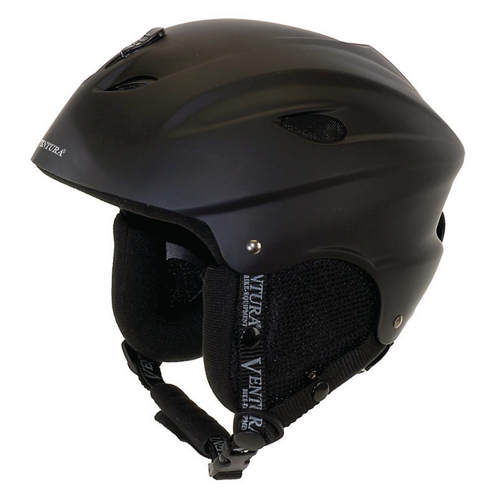 Ventura 56-58 cm Skiing/Snowboarding Youth Helmet M in Black