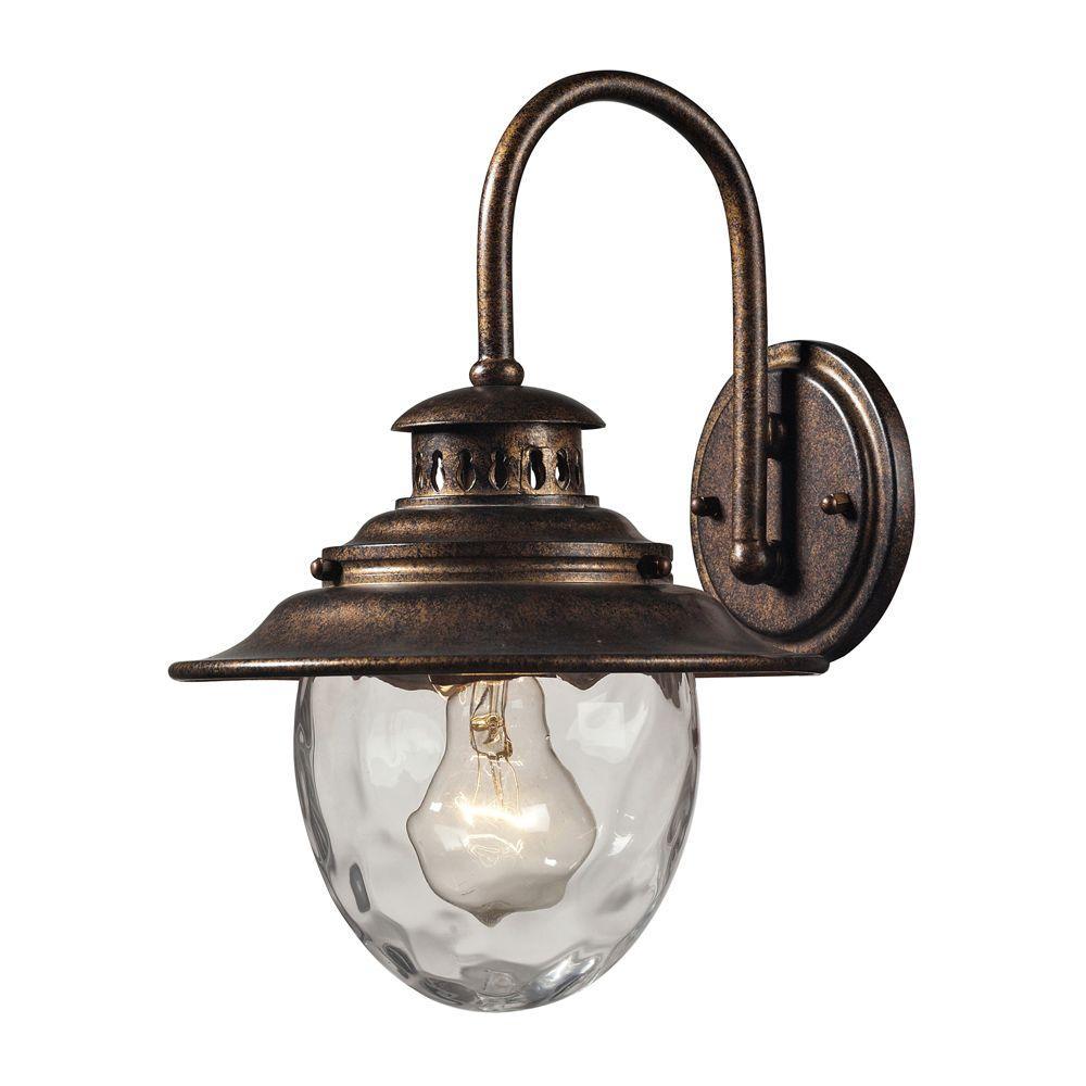 Titan Lighting Searsport 1 Light Regal Bronze Outdoor Sconce