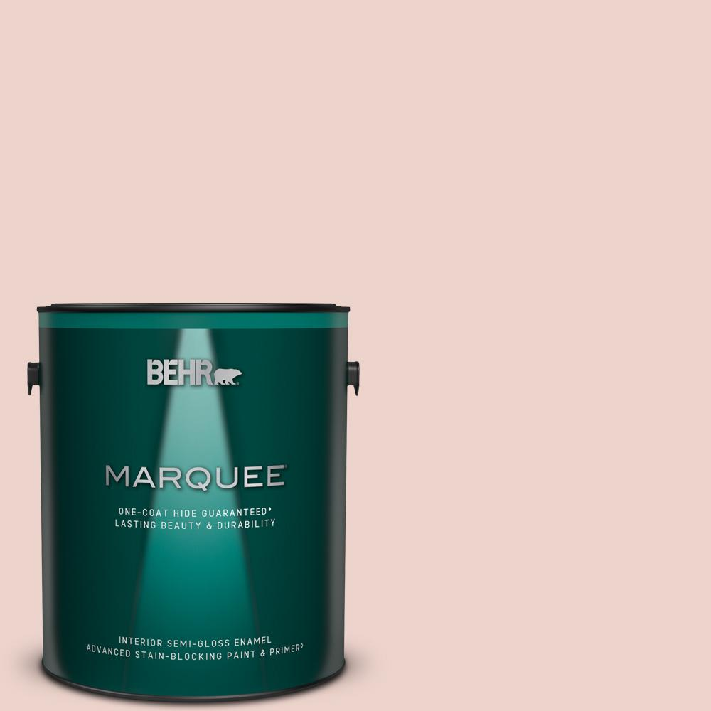 Behr Marquee 1 Gal 190e 2 Misty Memories Semi Gloss Enamel Interior Paint Primer 345001 The Home Depot