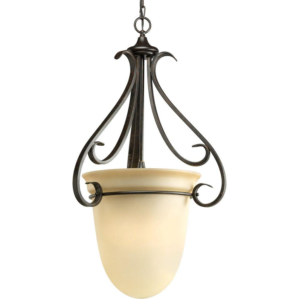 Progress Lighting Torino Collection 3 Light Forged Bronze Foyer Pendant