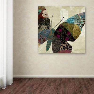 """35 in. x 35 in. """"Butterfly Brocade IV"""" by Color Bakery Printed Canvas Wall Art"""
