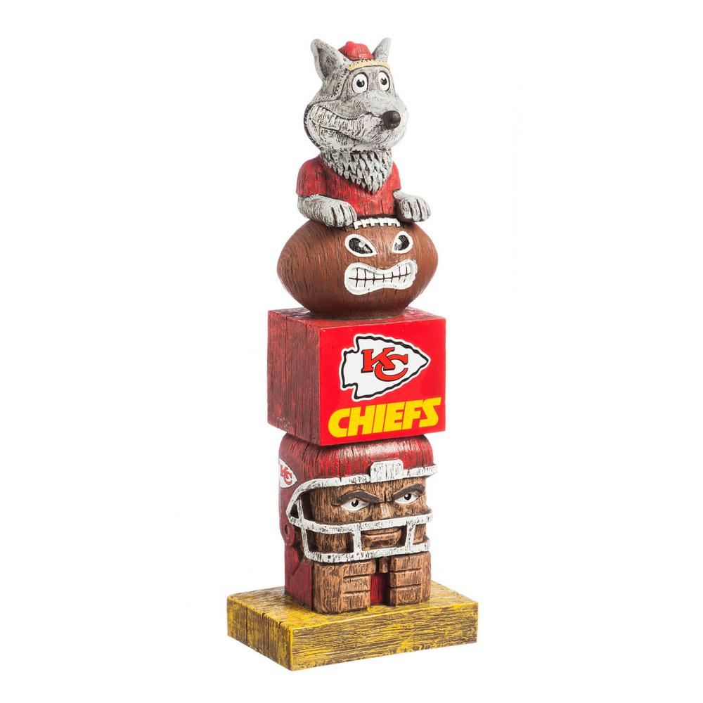 Evergreen Kansas City Chiefs Tiki Totem Garden Statue