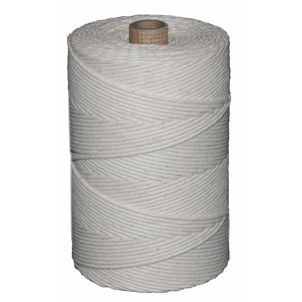 #48 x 1500 ft. Polished Beef 2 lb. Cotton Twine Tube, Whites
