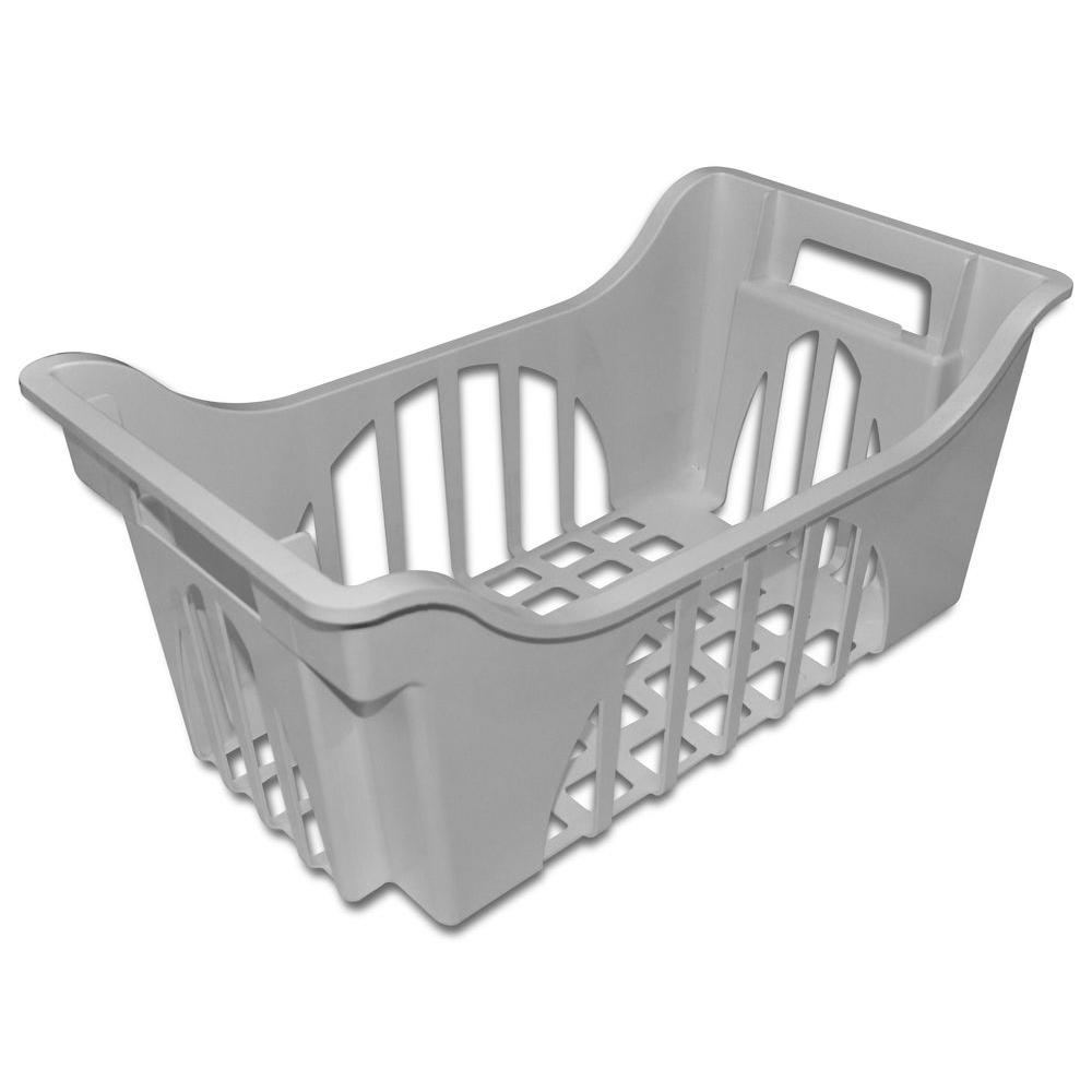 D Freezer Basket in Gray  sc 1 st  Home Depot & 22.5 in. W x 12.5 in. D Freezer Basket in Gray-68001709A - The Home ...