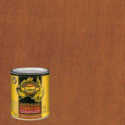 1 qt. Jarrah Brown Australian Timber Oil Exterior Wood Finish