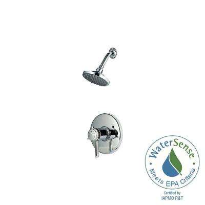 Thermostatic Shower Systems 1-Handle Shower Faucet Trim Kit in Polished Chrome (Valve Not Included)