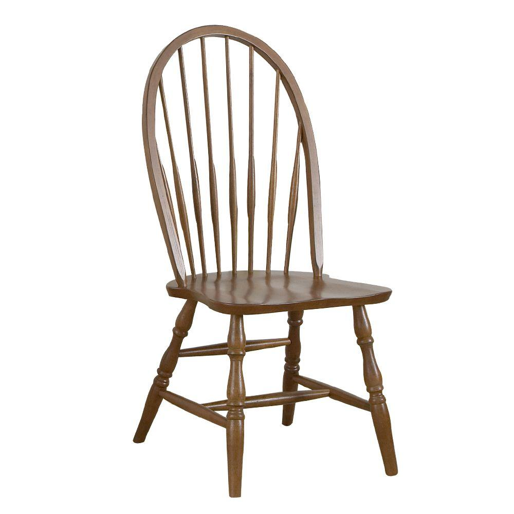 Carolina Cottage Chestnut Windsor Dining Chair-DISCONTINUED