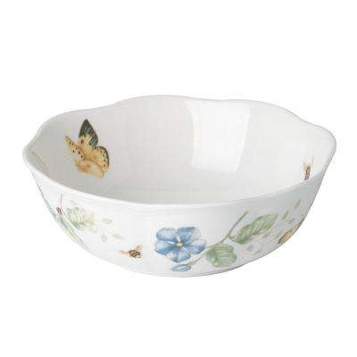 Butterfly Meadow 20 oz. Porcelain Multi Color All Purpose Bowl