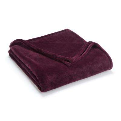 Sheared Mink Fig Polyester Twin Blanket