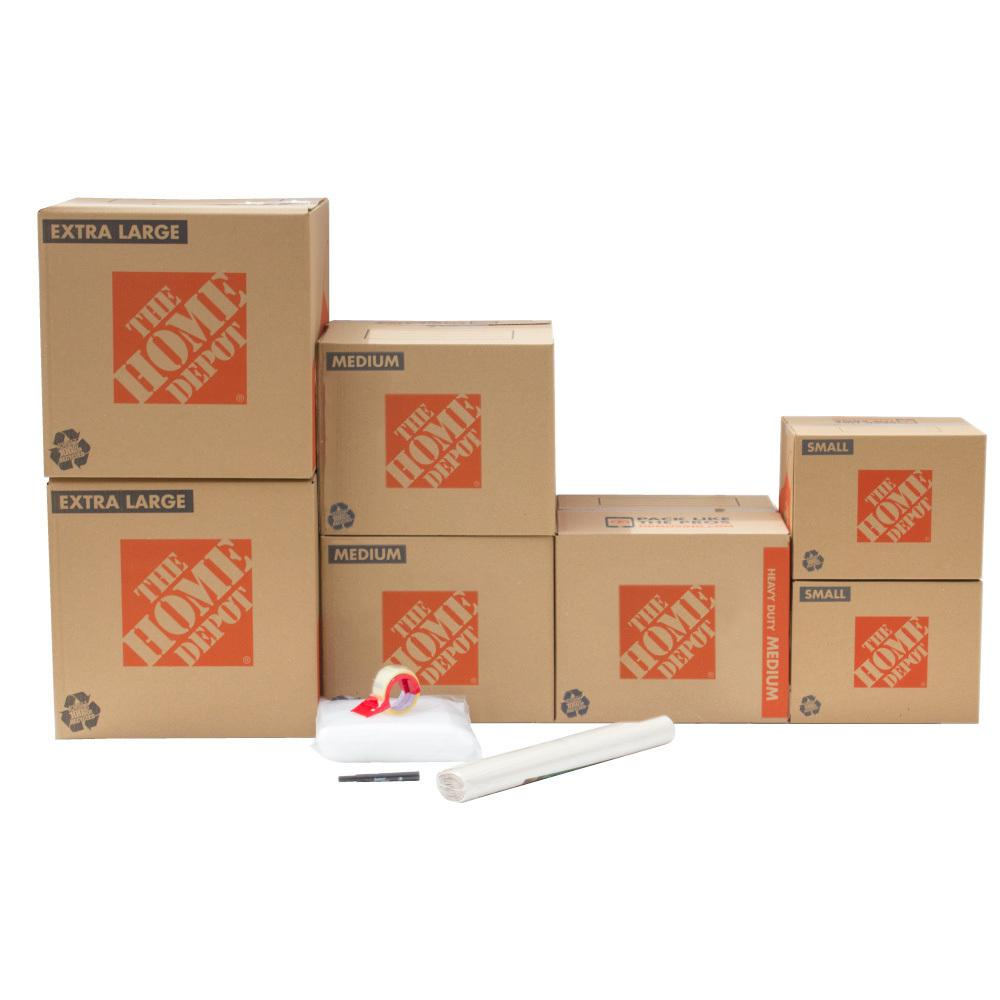 The Home Depot 7-Box Bathroom Moving Box Kit
