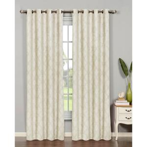Bella Luna Semi-Opaque Newbury Lattice 84 inch L Room Darkening Grommet Curtain Panel... by Bella Luna