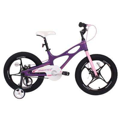 18 in. Magnesium Space Shuttle Kid's Bike in Purple