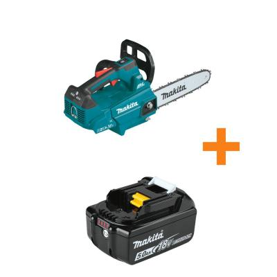 18V X2 (36V) LXT Lithium-Ion Brushless Cordless 14 in. Top Handle Chain Saw, Tool Only with Bonus 18V LXT 5.0Ah Battery