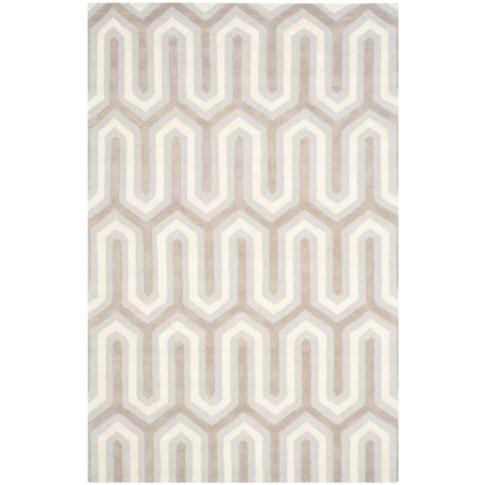 Cambridge Light Blue/Gray 5 ft. x 8 ft. Area Rug