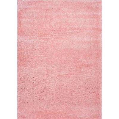 Gynel Cloudy Shag Baby Pink 3 ft. x 5 ft. Area Rug