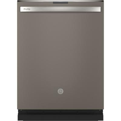 Profile Top Control Tall Tub Dishwasher in Slate with Stainless Steel Tub and Steam Cleaning, 45 dBA