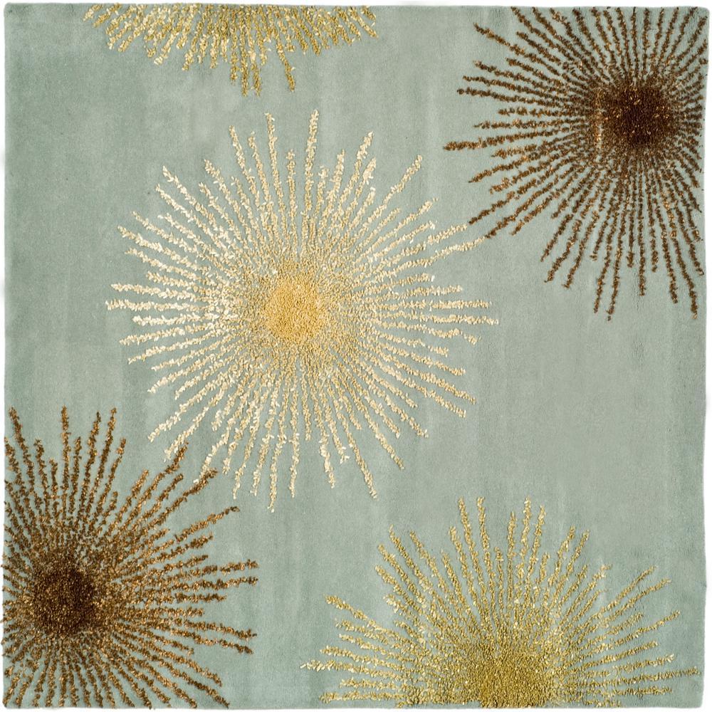 Safavieh Soho Light Blue Multi Wool 8 Ft X Square Area