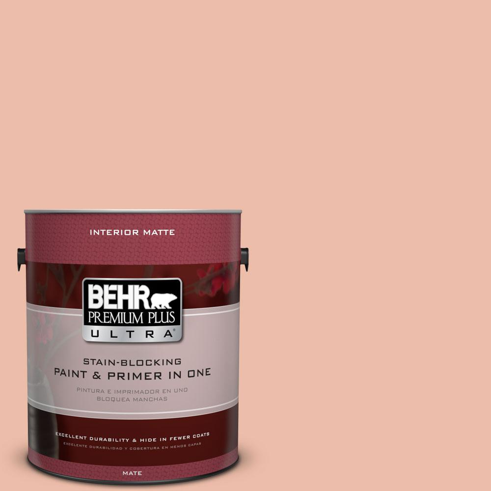 1 gal. #BIC-03 Veronese Peach Matte Interior Paint