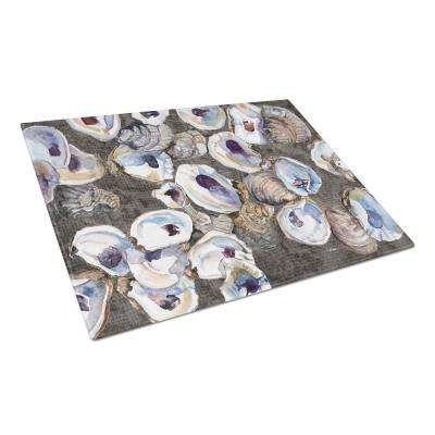 Oysters Tempered Glass Large Heat Resistant Cutting Board