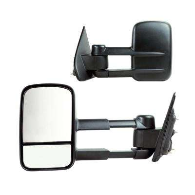 Towing Mirror for 14-17 Silverado/Sierra 1500 15-17 2500/3500 Textured Black Extendable 1st Design Fold Pair