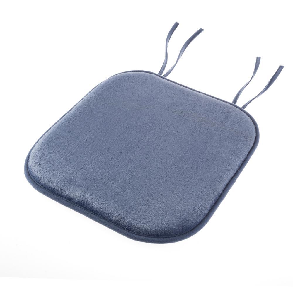 Lavish Home Blue Memory Foam Chair Pad