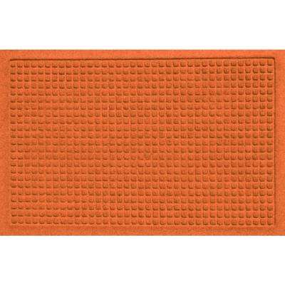 Aqua Shield Squares Orange 17.5 in. x 26.5 in. Door Mat